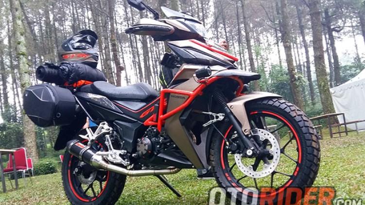 Modifikasi Honda Supra GTR 150 Contoh Buat Penjelajah