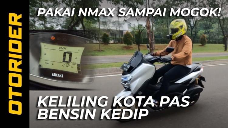 VIDEO: Tes Jarak Yamaha NMax 155 Connected/ABS Pas Bensin Kedip
