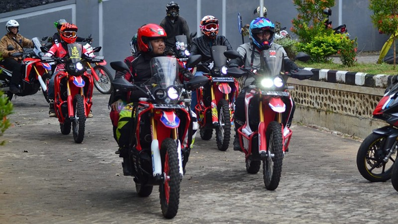 CRF Rally Jatim Riding