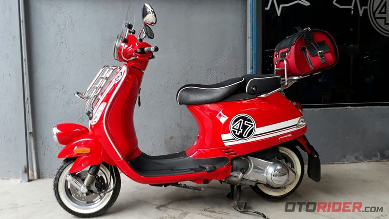 Vespa LX150 modifikasi