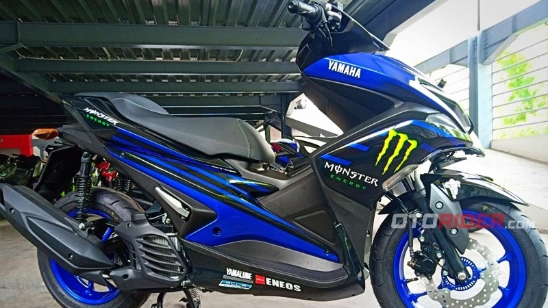 Yamaha Nmax dan Aerox 155 Monster Energy